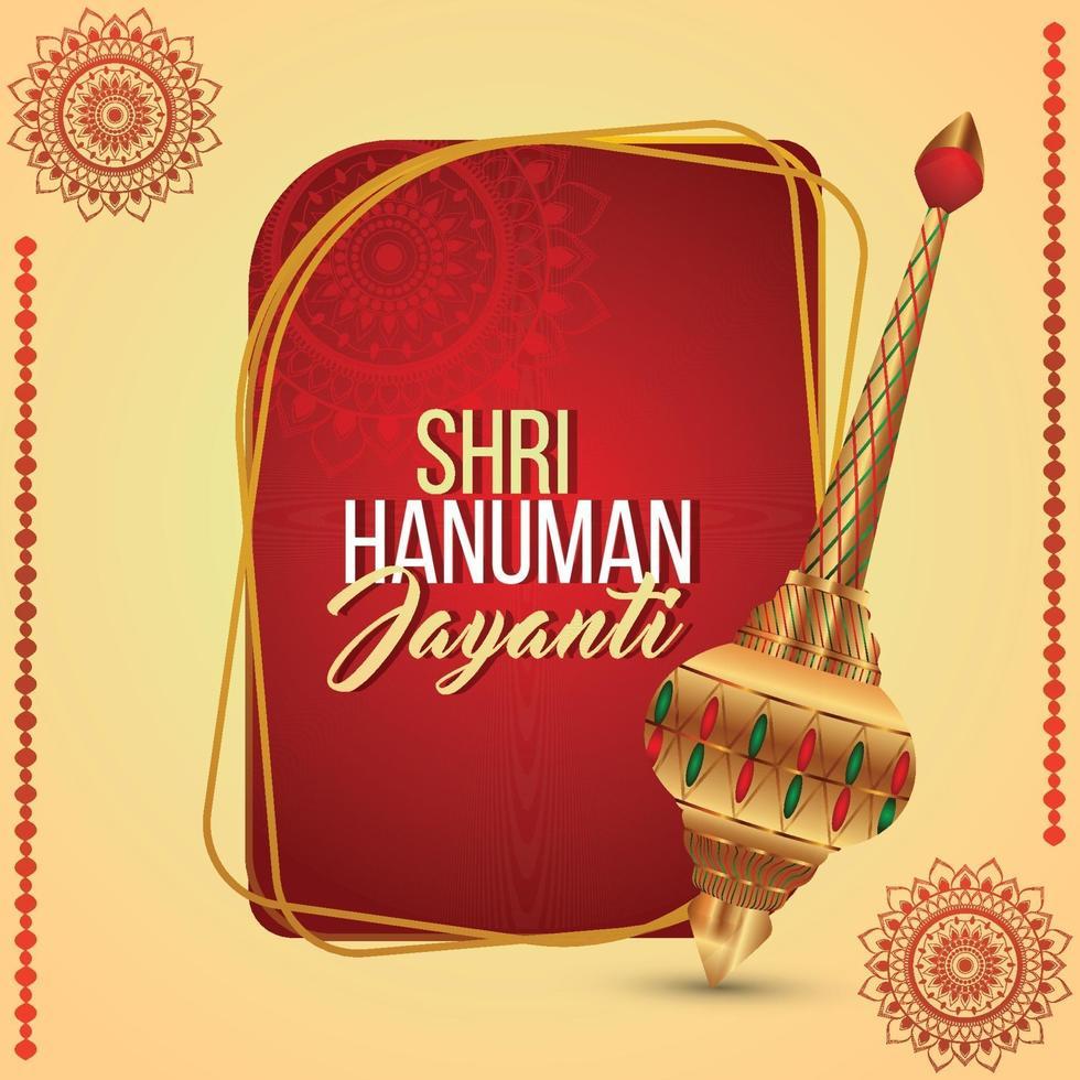 illustartion créative de hanuman jayanti vecteur