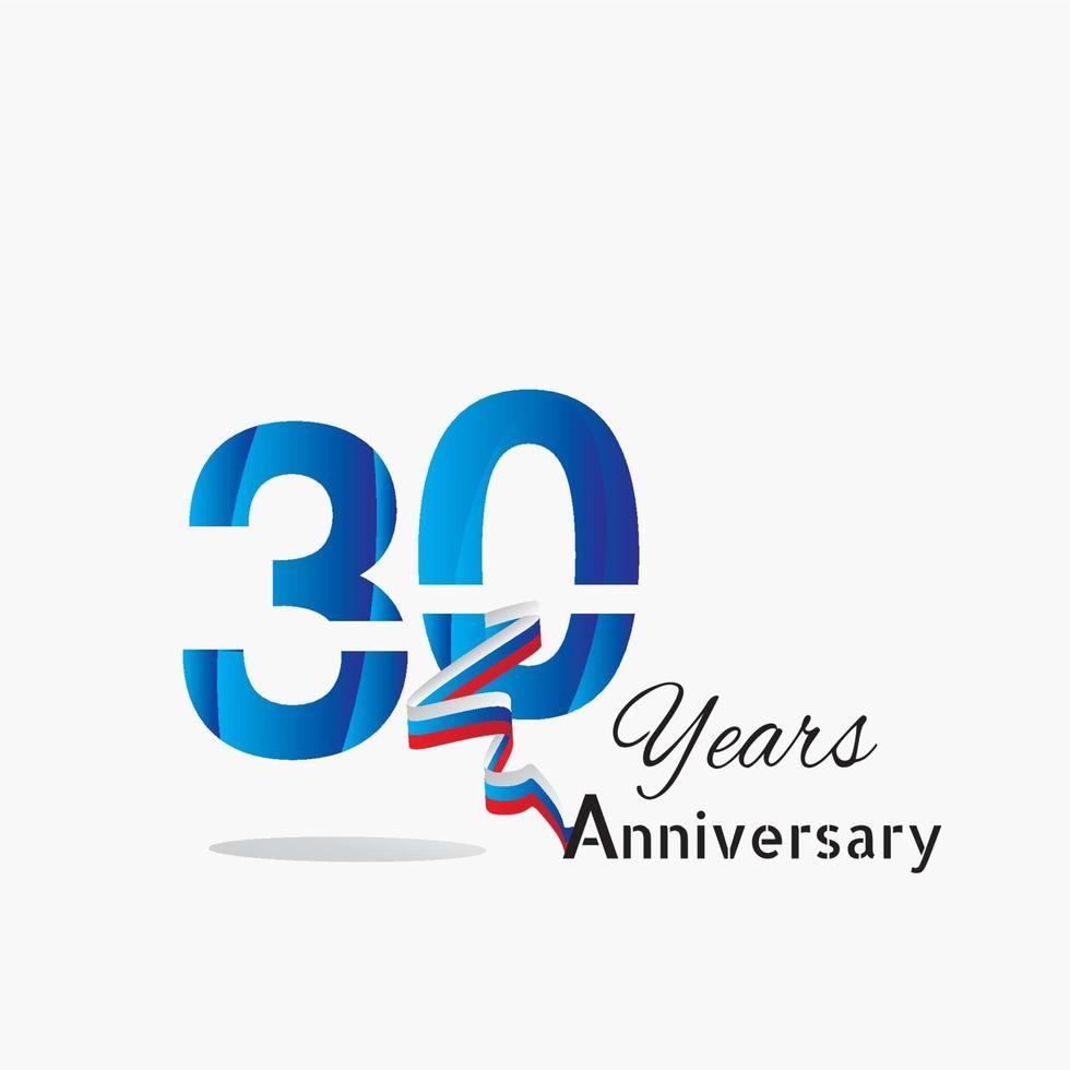 logo de modèle anniversaire ans vecteur