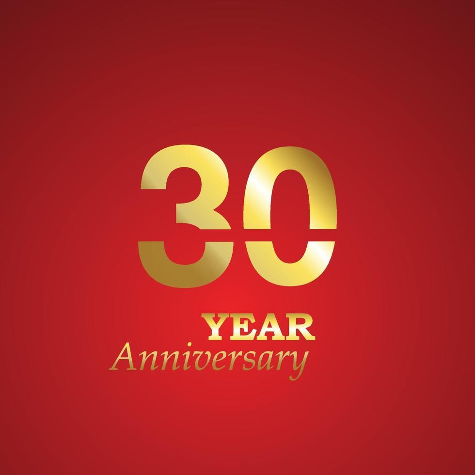 Illustration de conception de modèle de logo anniversaire 30 ans vecteur