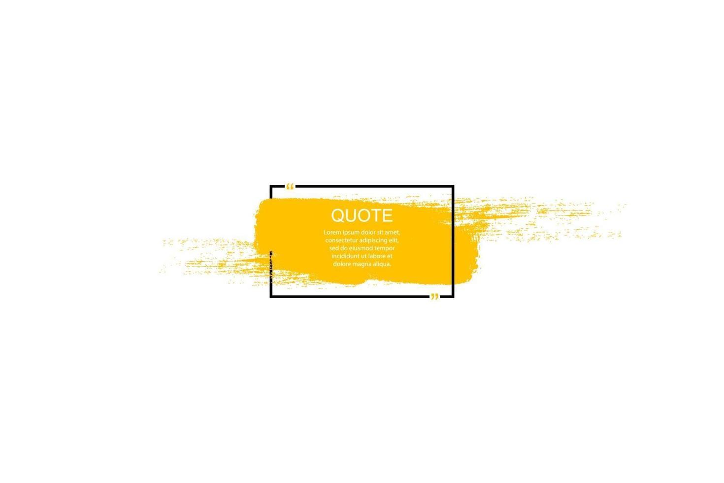 citation cadre de boîte, grand ensemble. icône de boîte de devis. boîtes de devis de textos. fond de brosse grunge vierge. illustration vectorielle vecteur