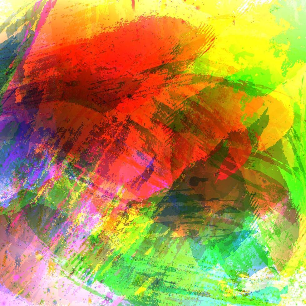 toile de fond artistique, vecteur avec des coups de pinceau, fond de peinture au pinceau avec des taches colorées peintes à la main
