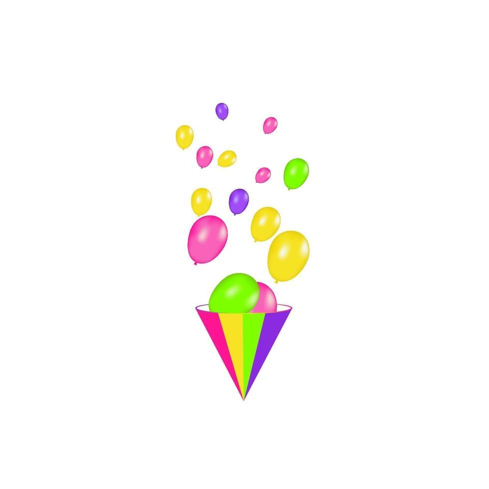 ballons à air isolés. composition de couleurs de ballons réalistes de vecteur isolé sur fond blanc. ballons isolés. illustration vectorielle festive