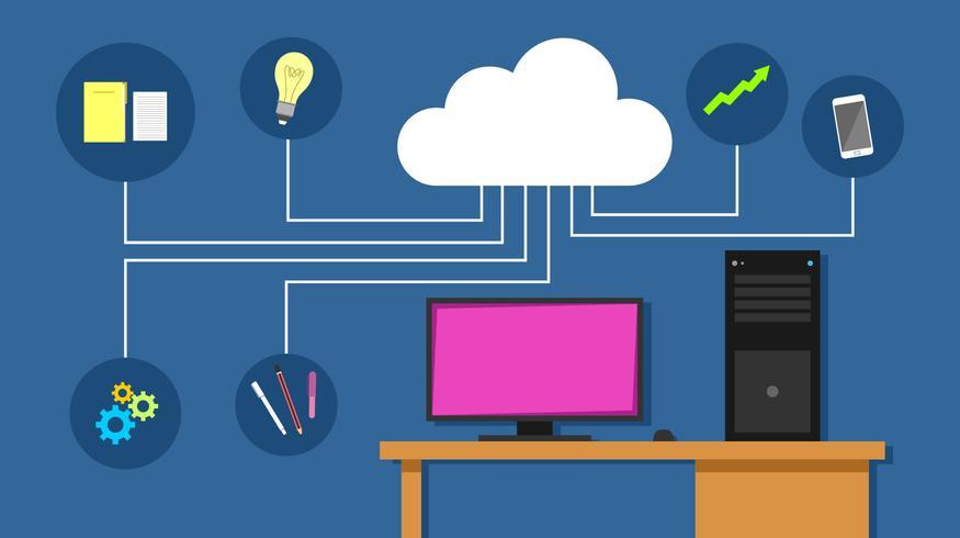 Vecteur d'ingénieurs en nuage