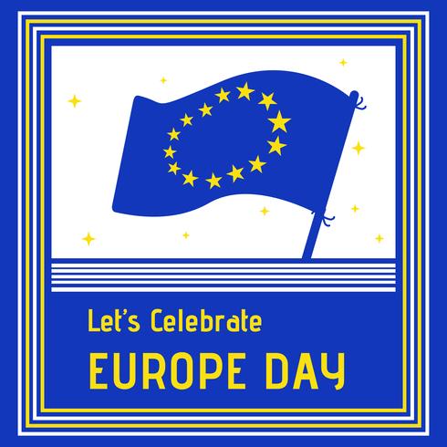 Contexte de célébration de la journée de l'Europe vecteur