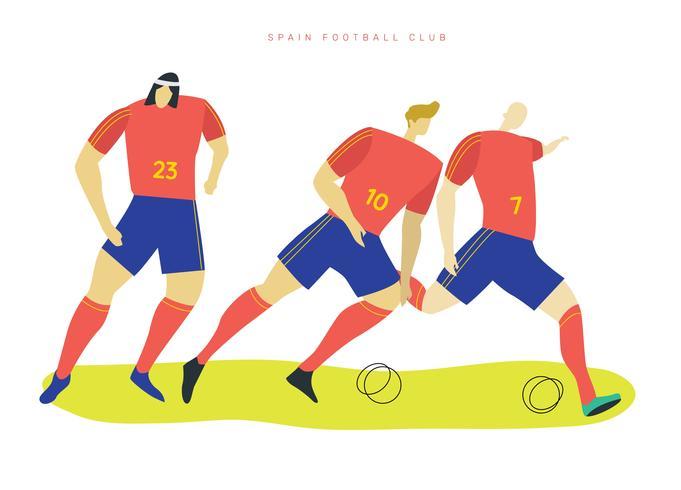 Personnages de football espagnols Vector Illustration plate