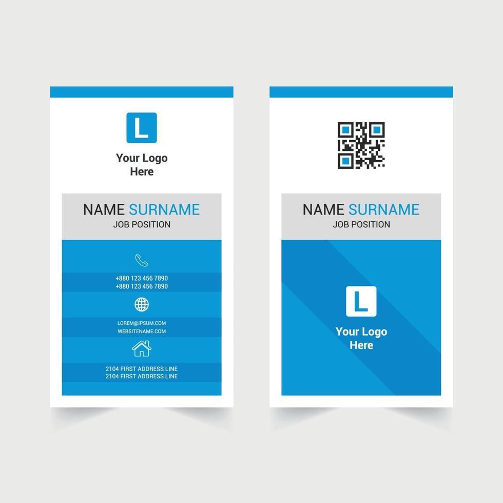 conception de carte de visite moderne d'entreprise vecteur