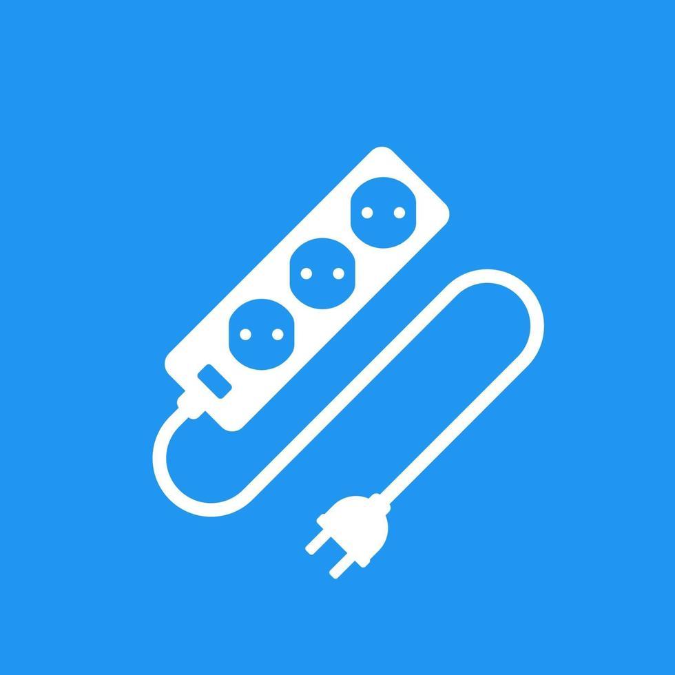 prise de courant avec câble et prise vector icon.eps
