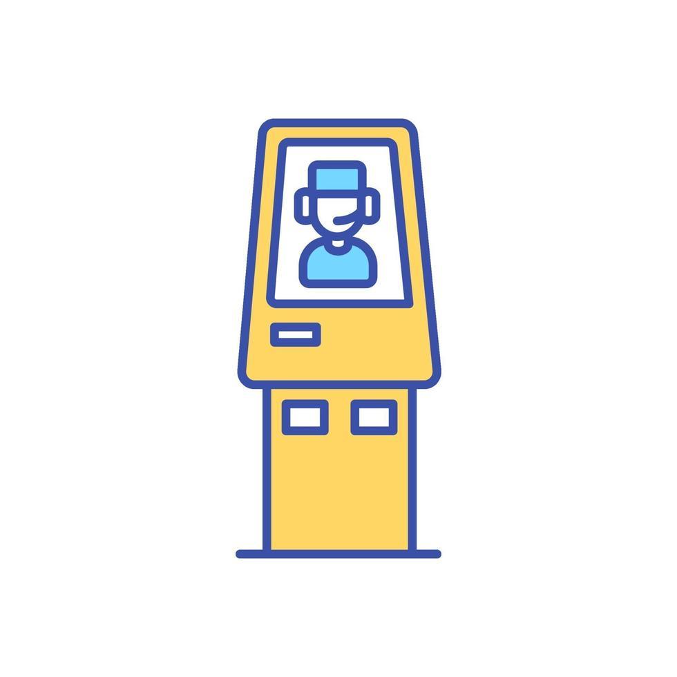 Icône de couleur rgb kiosque de télémédecine vecteur