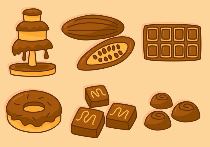 Vecteurs de chocolat délicieux vecteur