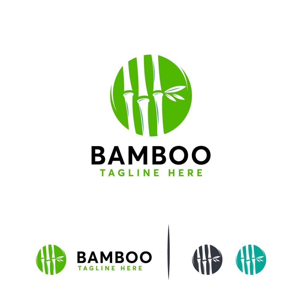 concept de vecteur de concept de bambou