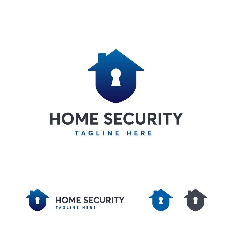 modèle de conceptions de logo de sécurité à domicile, modèle de logo de garde à domicile vecteur