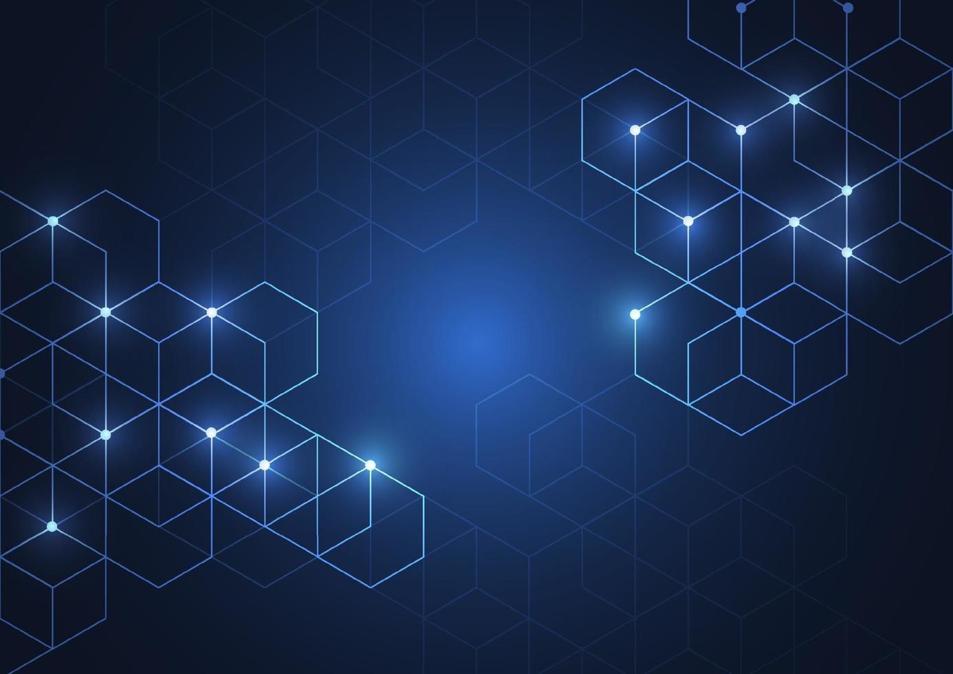 fond de boîtes abstraites. technologie moderne avec maille carrée. géométrique sur fond blanc avec des lignes. cellule de cube. illustration vectorielle vecteur