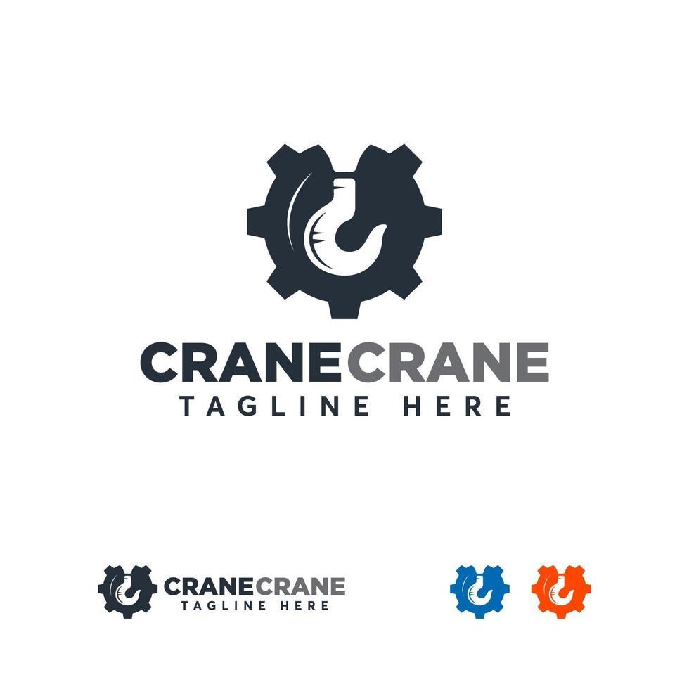conceptions de logo de grue, conception de logo de construction. logo de construction. signe de vecteur ou symbole pour l'industrie de la construction.