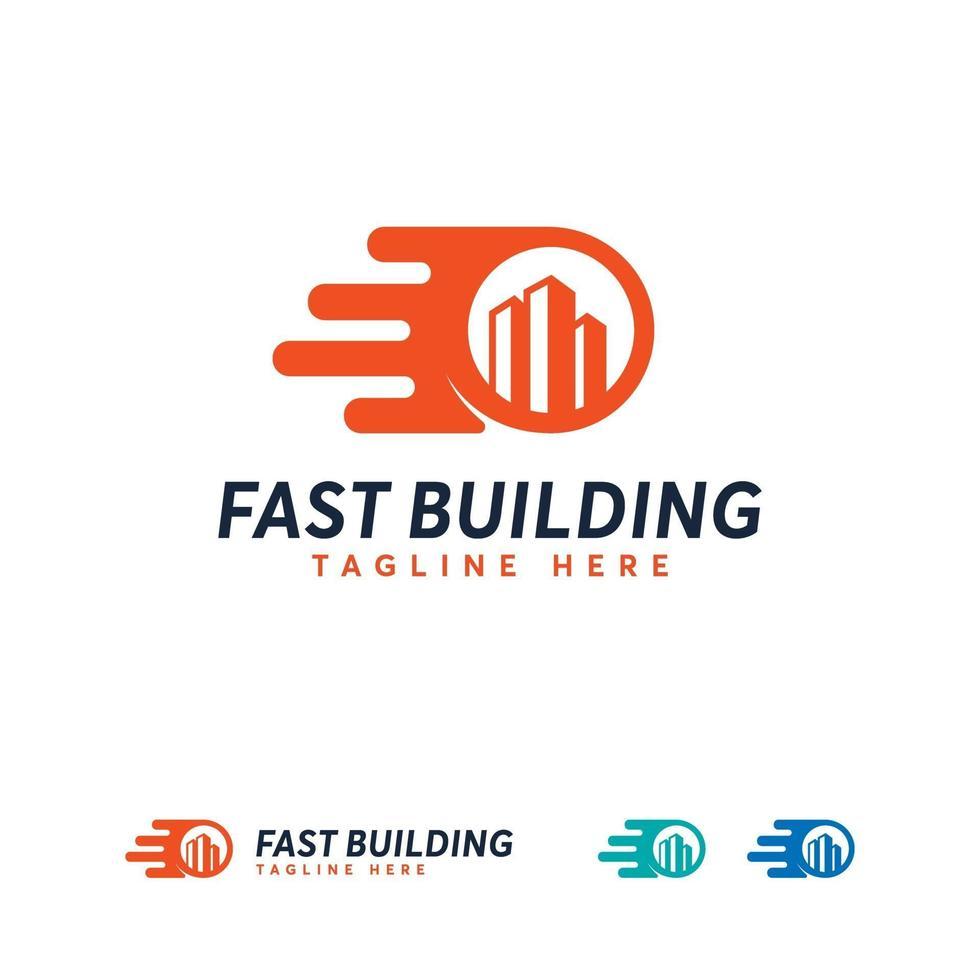 modèle de conception de logo de bâtiment rapide, conceptions de logo d'architecture vecteur