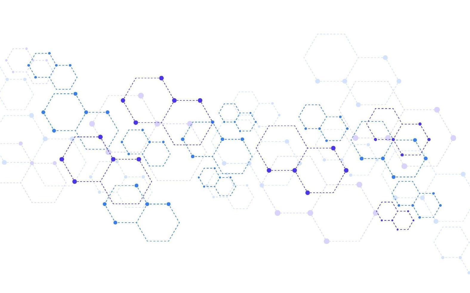 fond de technologie abstraite de structure moléculaire. conception médicale. illustration vectorielle vecteur