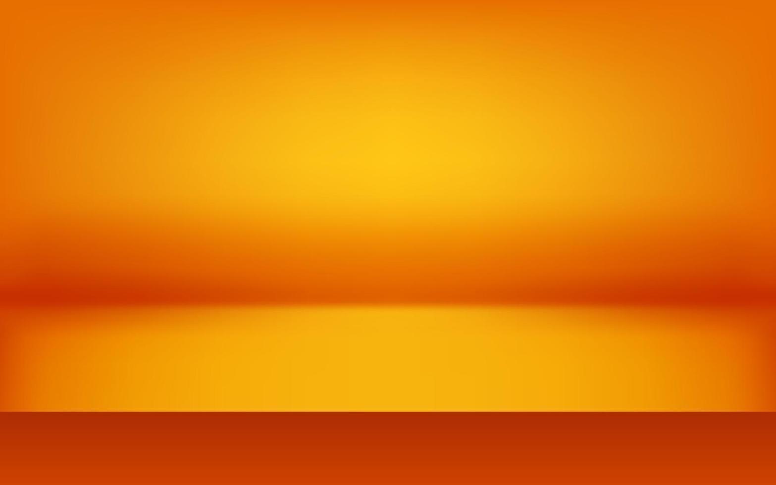fond abstrait orange de luxe. conception de disposition d'halloween, studio, salle. papier de rapport d'activité avec un dégradé lisse pour bannière, carte. illustration vectorielle vecteur