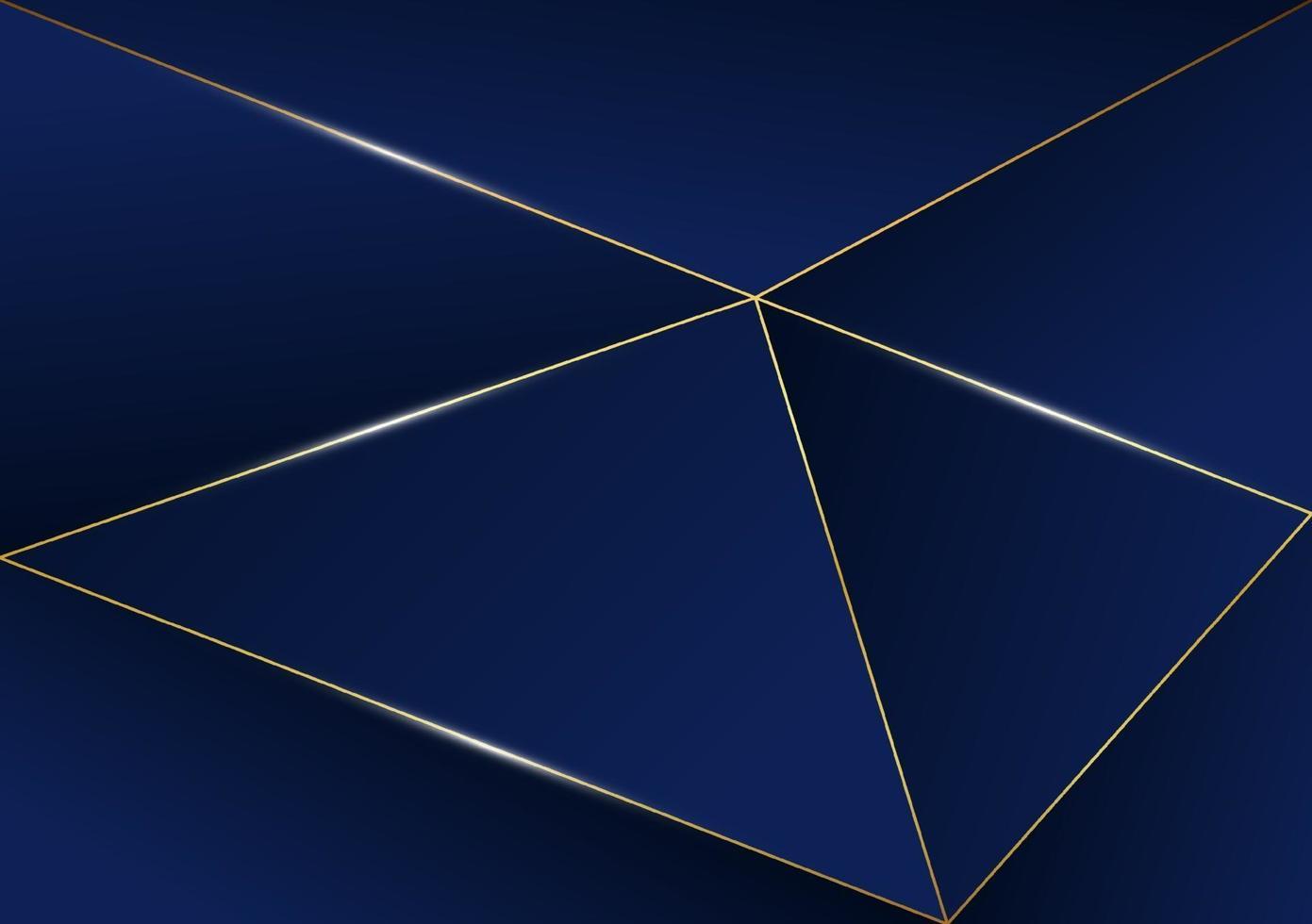 ligne d'or de luxe motif abstrait polygonale avec fond de modèle bleu foncé style premium pour affiche, couverture, impression, illustration. illustration vectorielle vecteur
