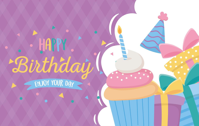 carte de joyeux anniversaire vecteur