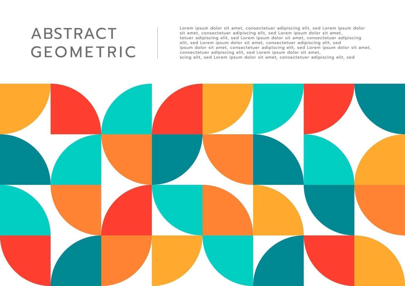 cercle géométrique abstrait coupe design plat de forme avec un espace pour votre texte vecteur