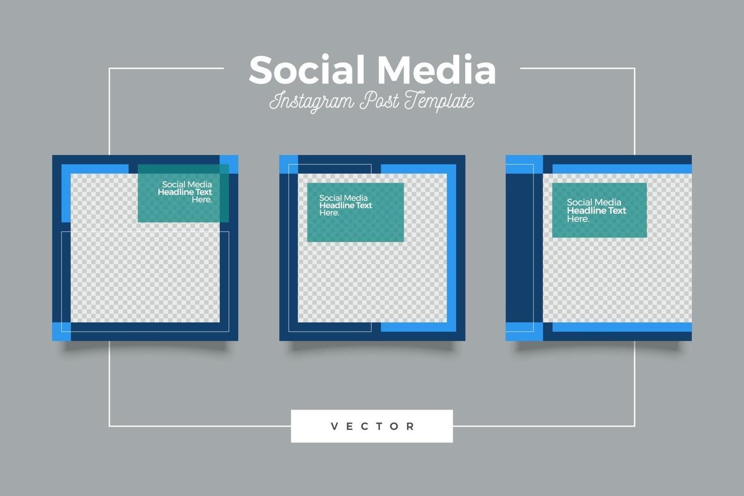 ensemble de bannières de modèles de médias sociaux modernes webinaire vecteur
