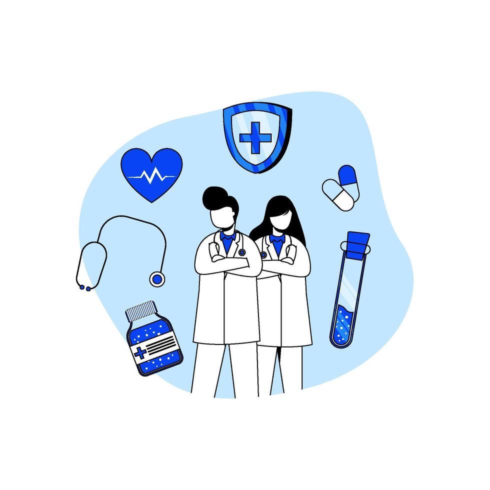 concept d & # 39; icône médecine et soins de santé vecteur