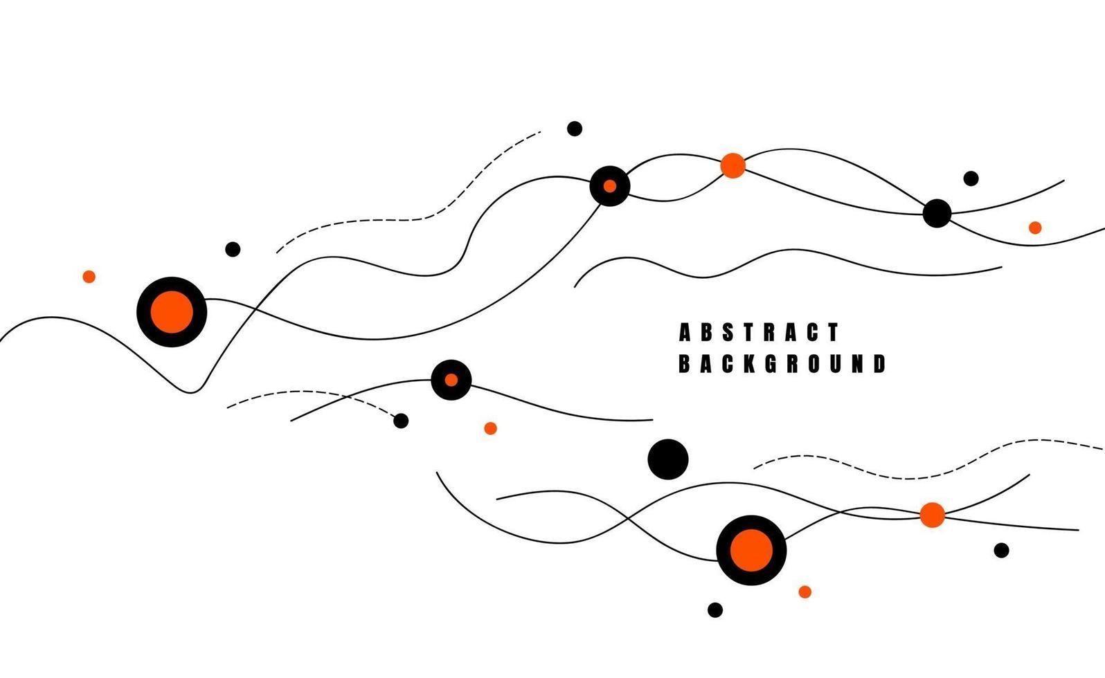 vagues dynamiques de ligne abstraite. style plat minimal pour affiche, bannière, carte. illustration vectorielle vecteur