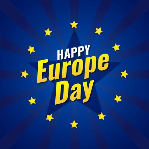 Célébration du jour de l'Europe vecteur