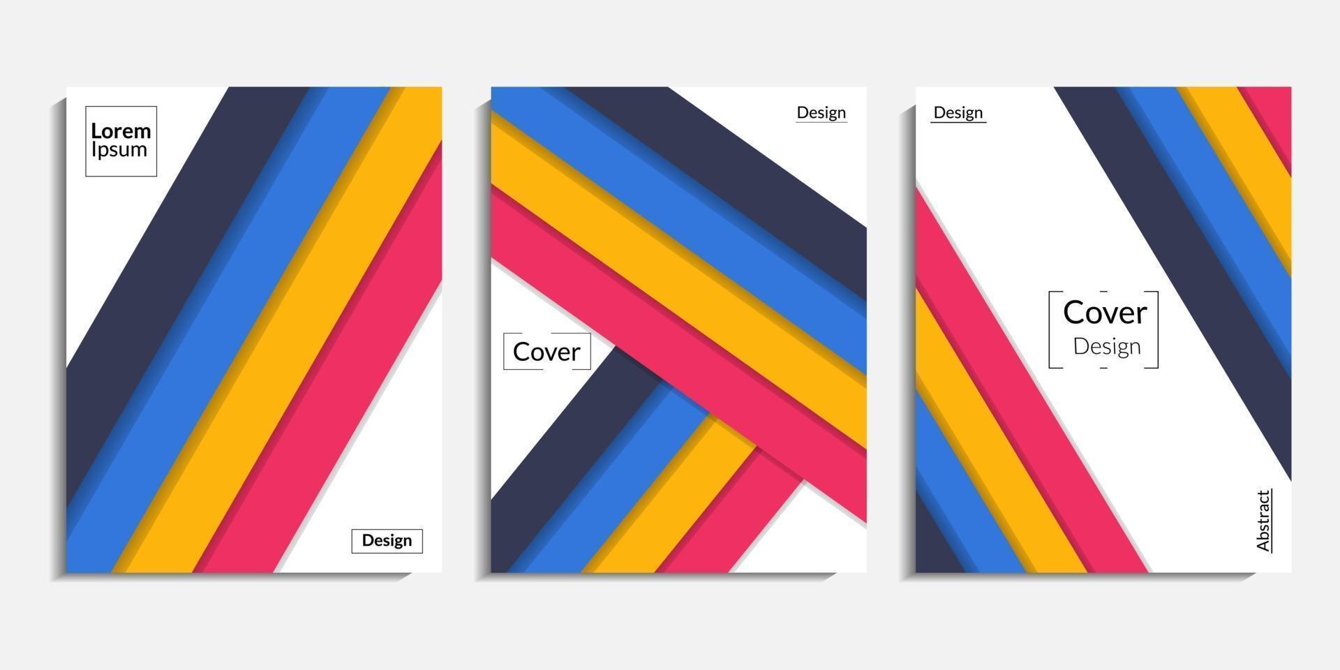 conception de la couverture, fond minimaliste abstrait moderne vecteur