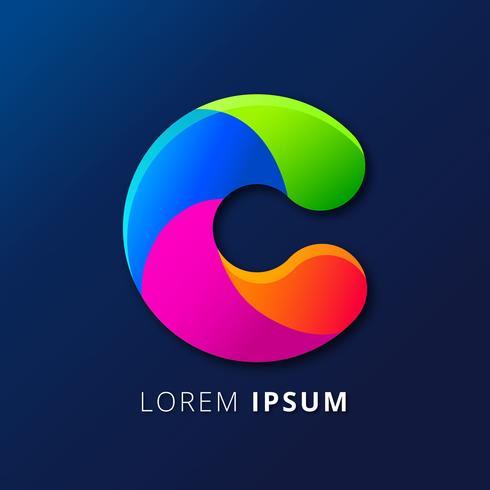 Lettre C Logo Typographie vecteur
