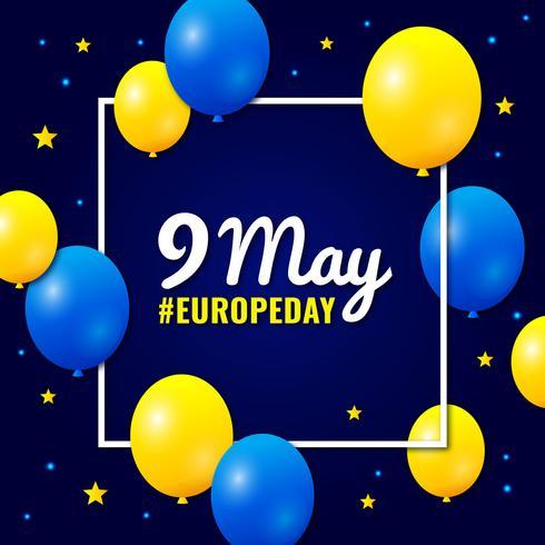 Journée nationale de l'Europe vecteur