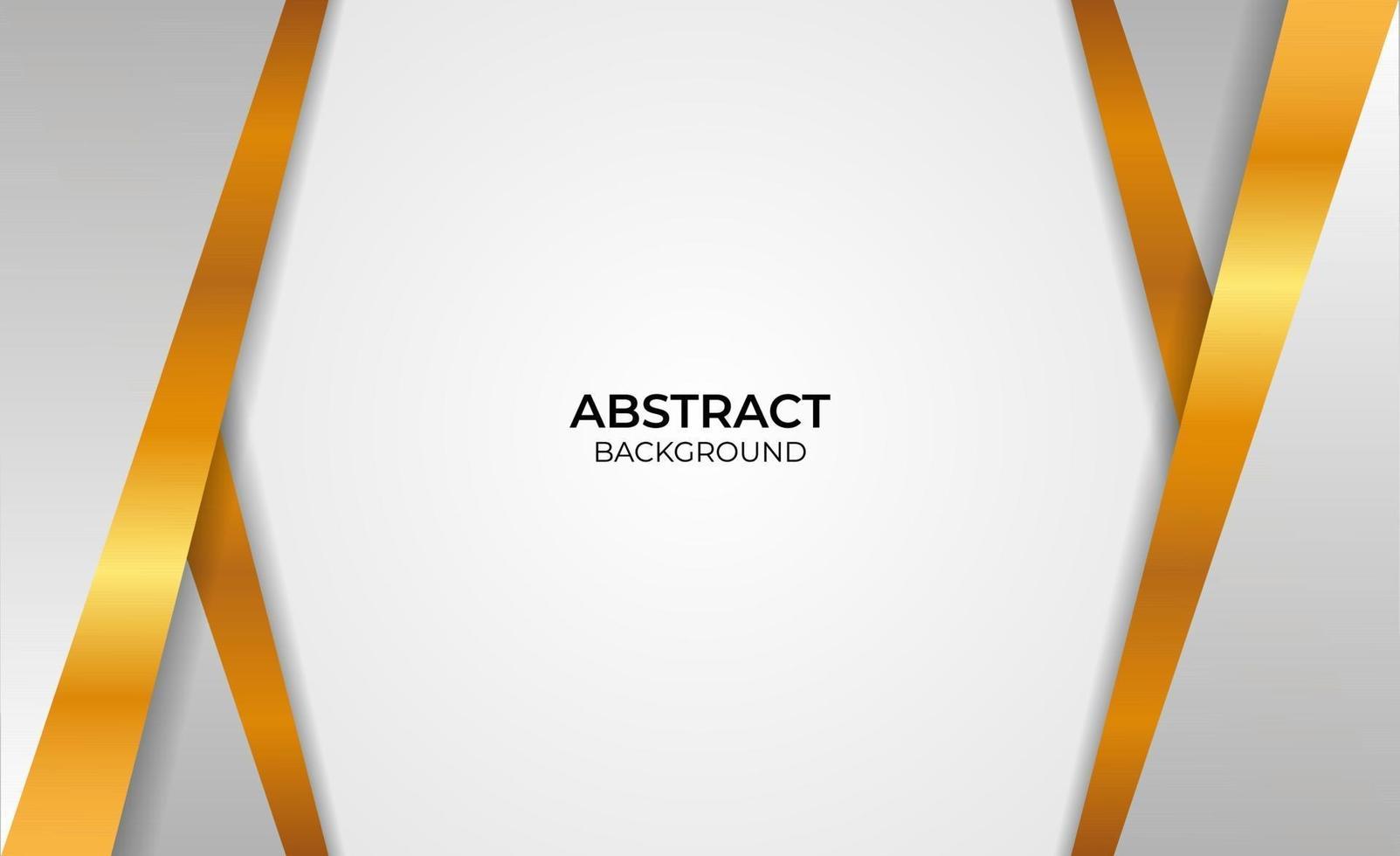 conception de style abstrait or et gris vecteur