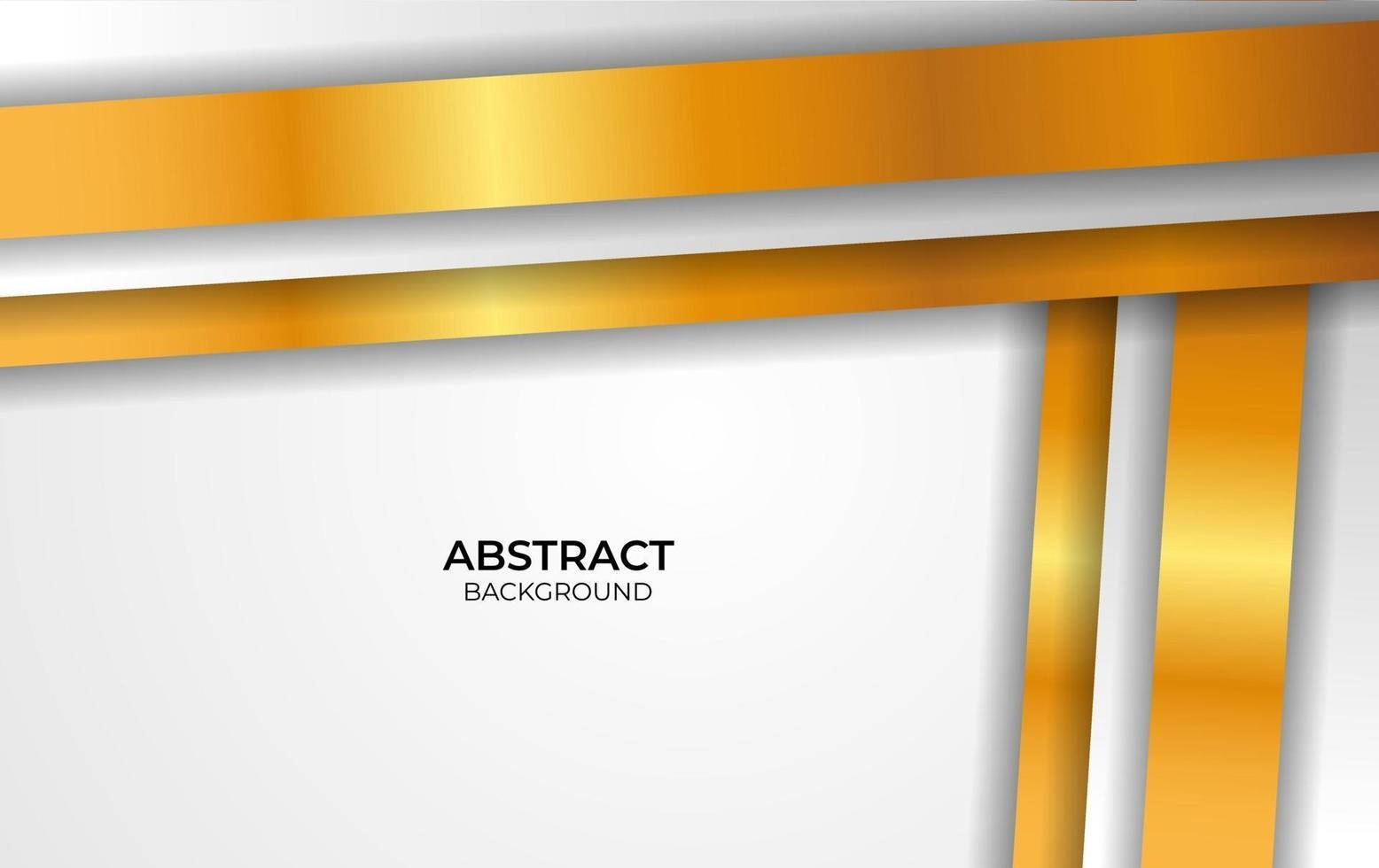 style design de luxe blanc et or vecteur