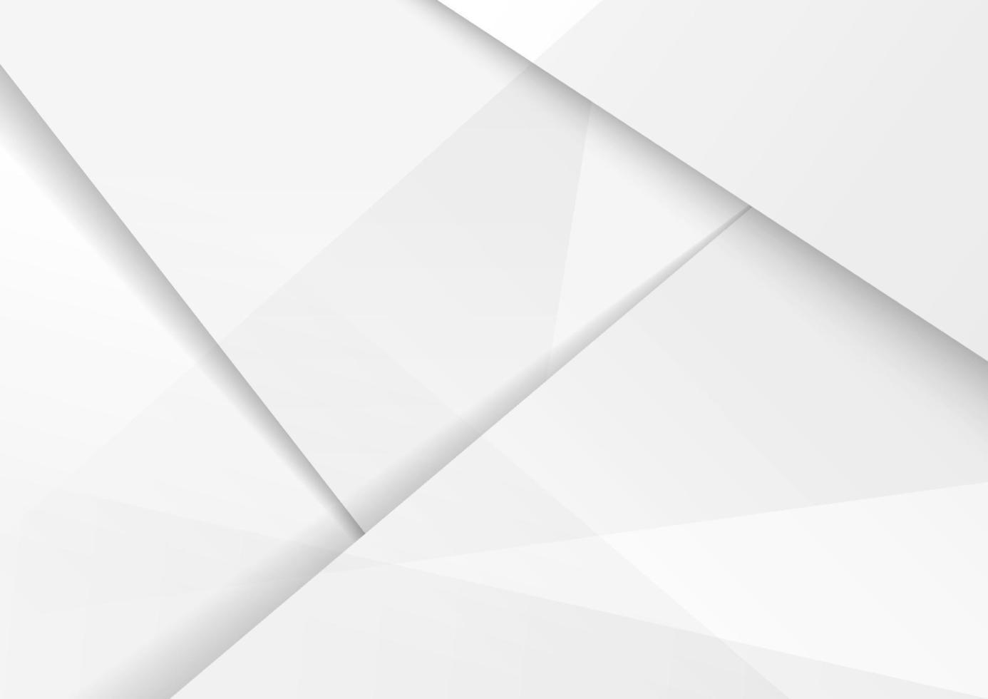 conception de fond moderne abstrait blanc et gris entreprise polygonale hi-tech avec ombre. vecteur