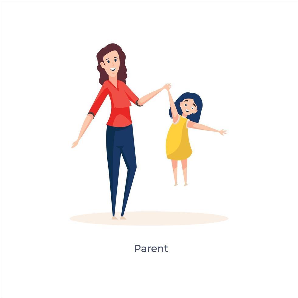 avatars mère et fille vecteur