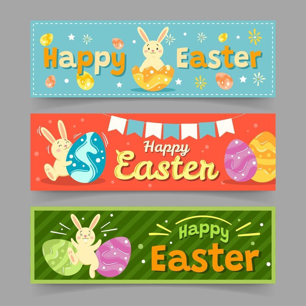 bannière de fête de Pâques vecteur