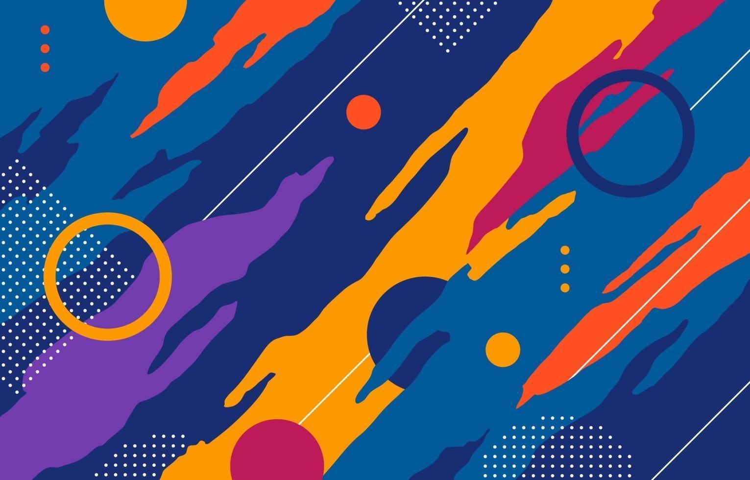 fond abstrait de formes colorées vecteur