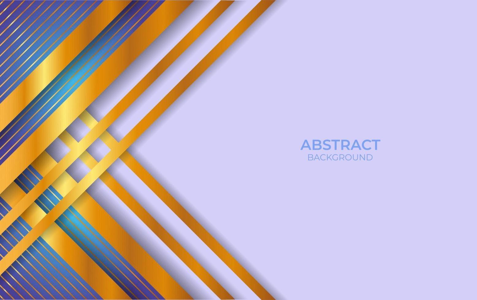 conception abstraite fond bleu et or vecteur