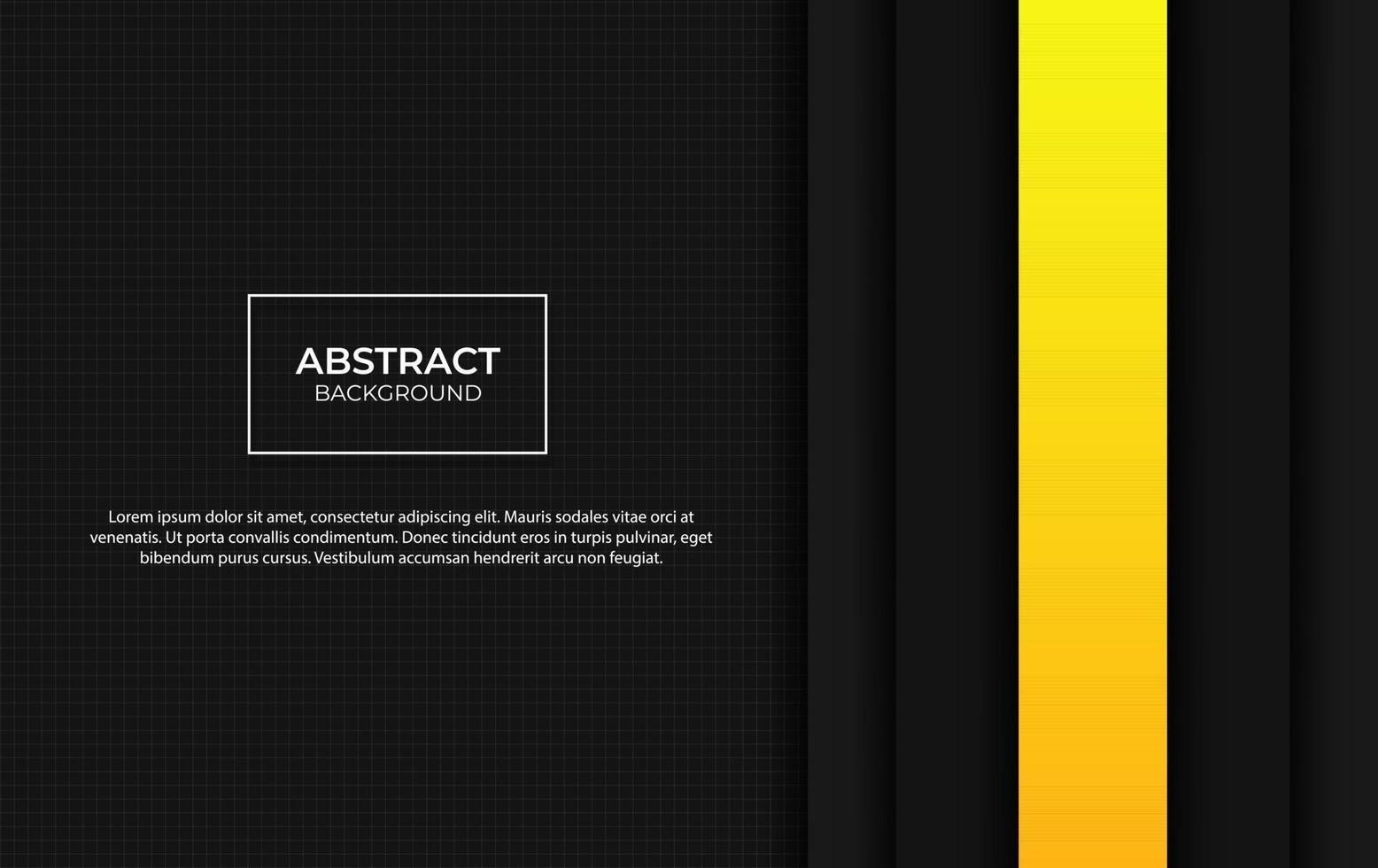 présentation abstraite fond jaune et noir vecteur