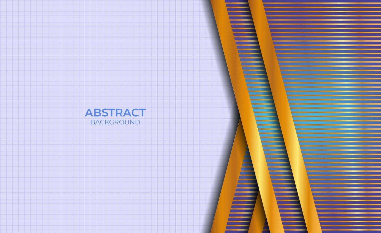 conception abstraite de fond bleu et or vecteur
