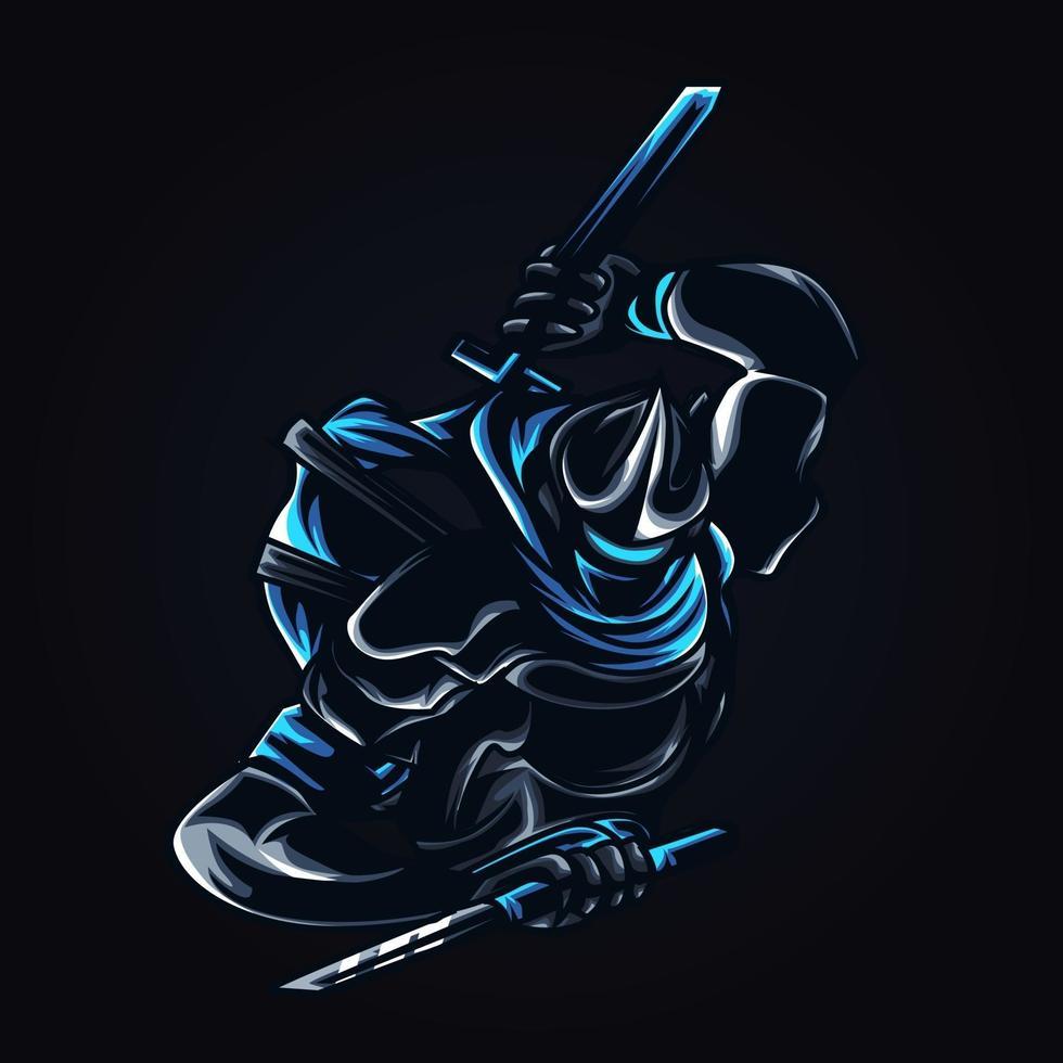 illustration dillustration de combattant ninja vecteur