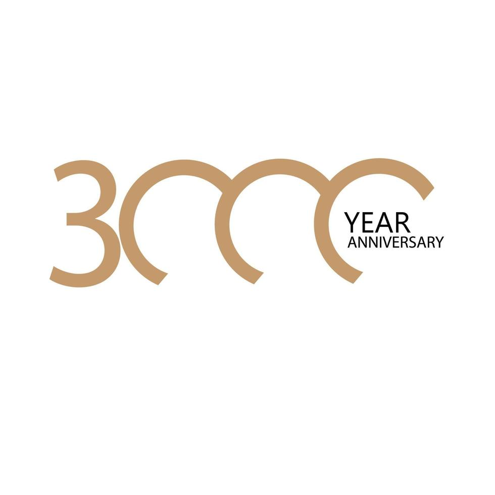 Illustration de conception de modèle de vecteur de célébration d'anniversaire de 3000 ans