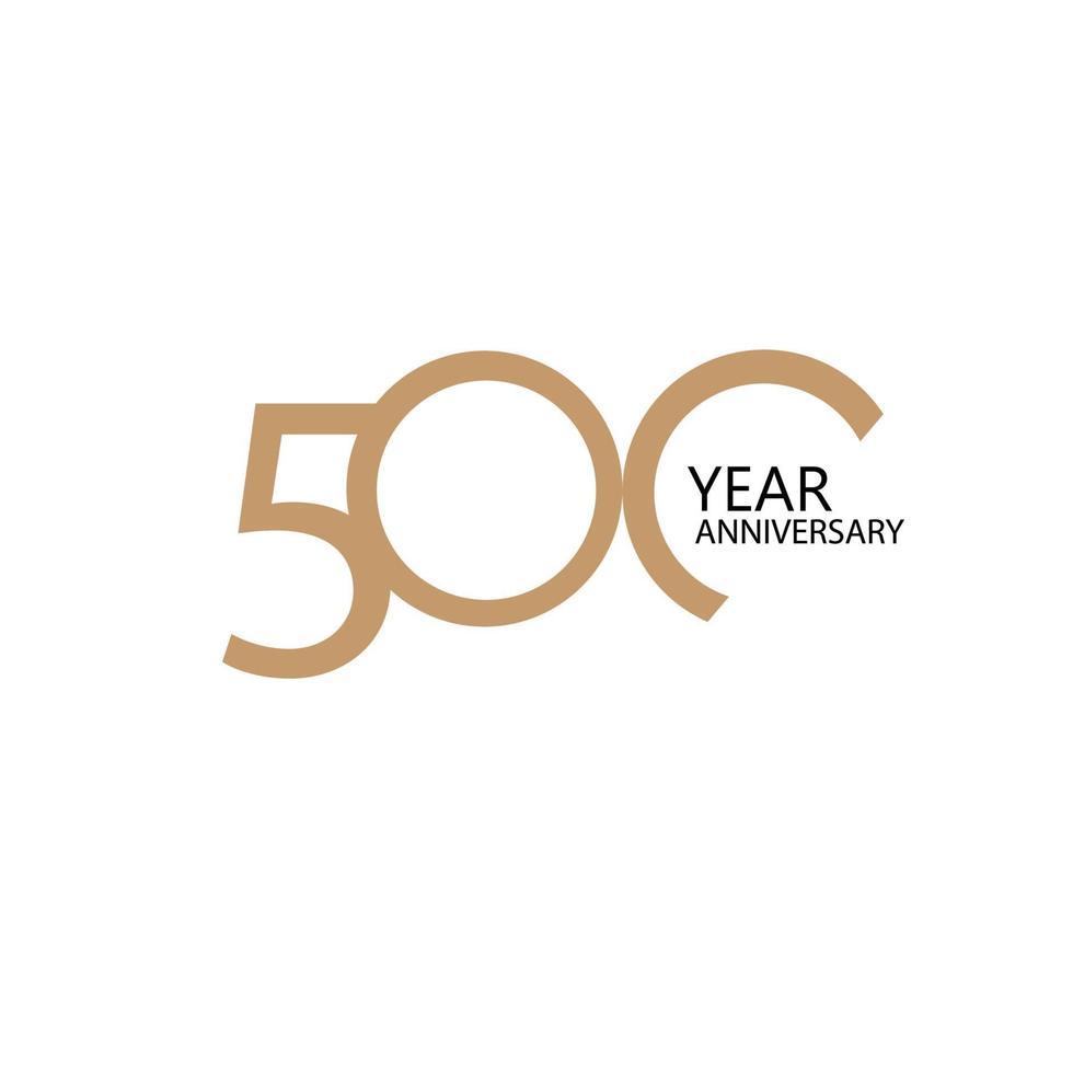 Illustration de conception de modèle de vecteur de célébration d'anniversaire de 500 ans