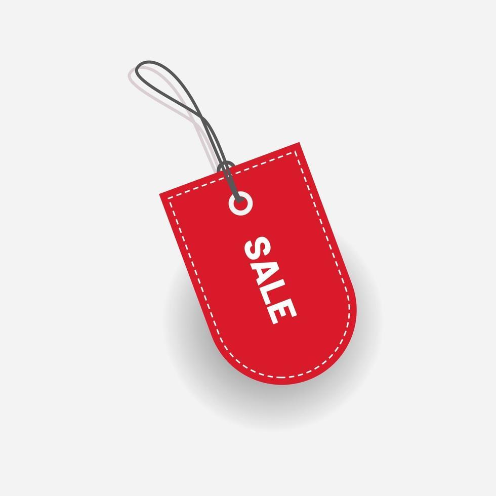 vecteur de vente étiquette étiquette de réduction rouge