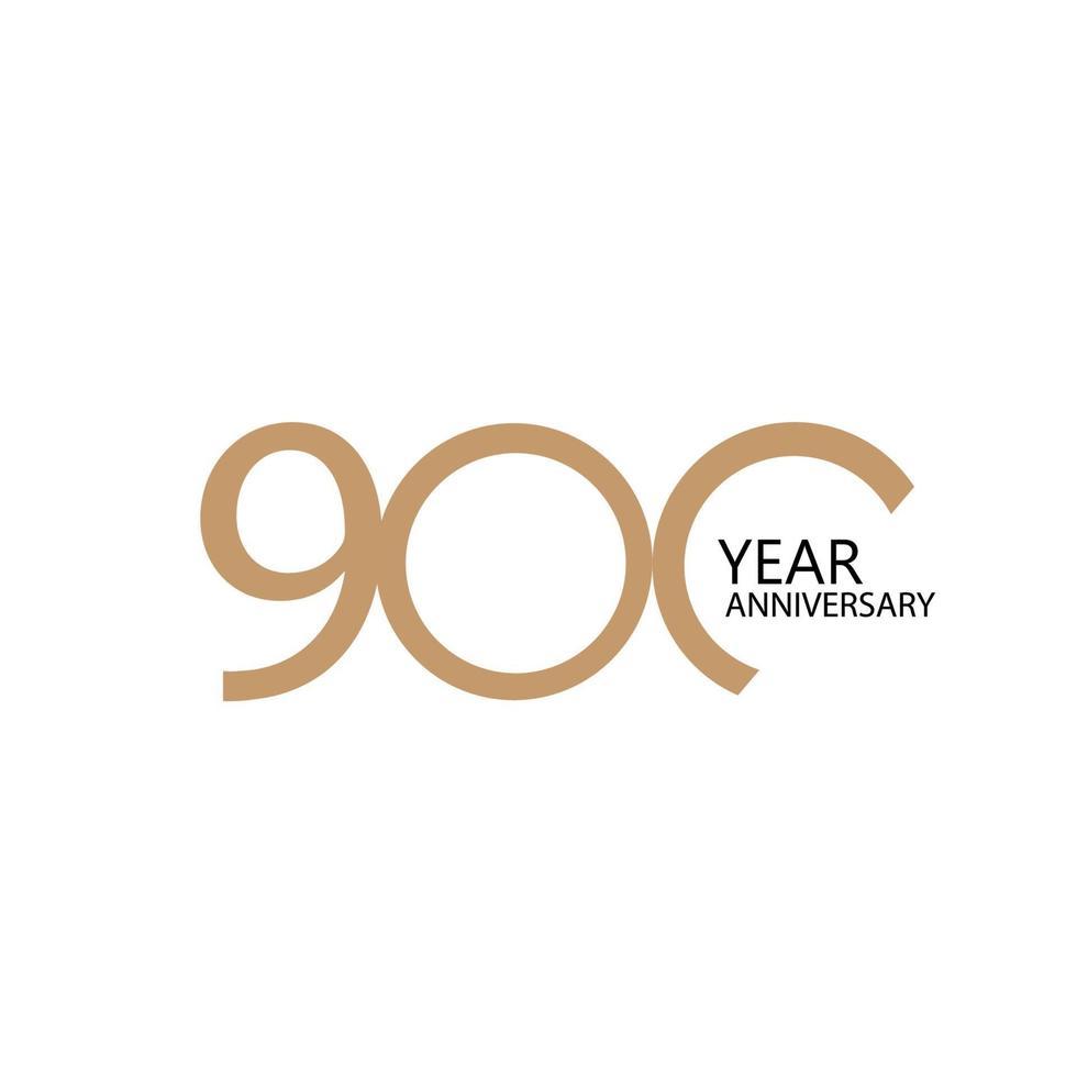 Illustration de conception de modèle de vecteur de célébration anniversaire 900 ans