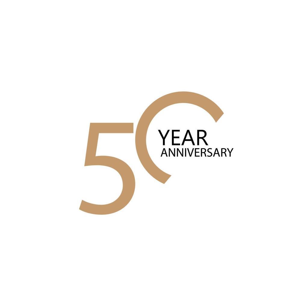 Illustration de conception de modèle de vecteur de célébration d'anniversaire de 50 ans