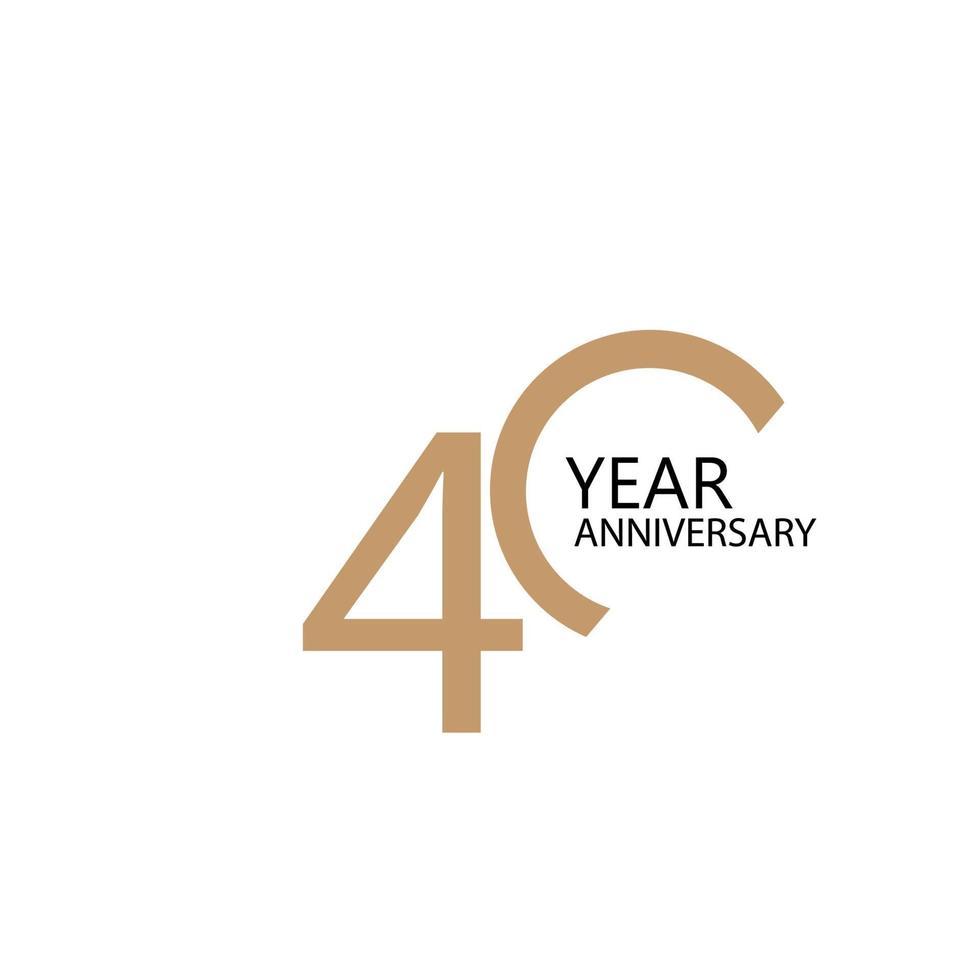 Illustration de conception de modèle de vecteur de célébration anniversaire 40 ans