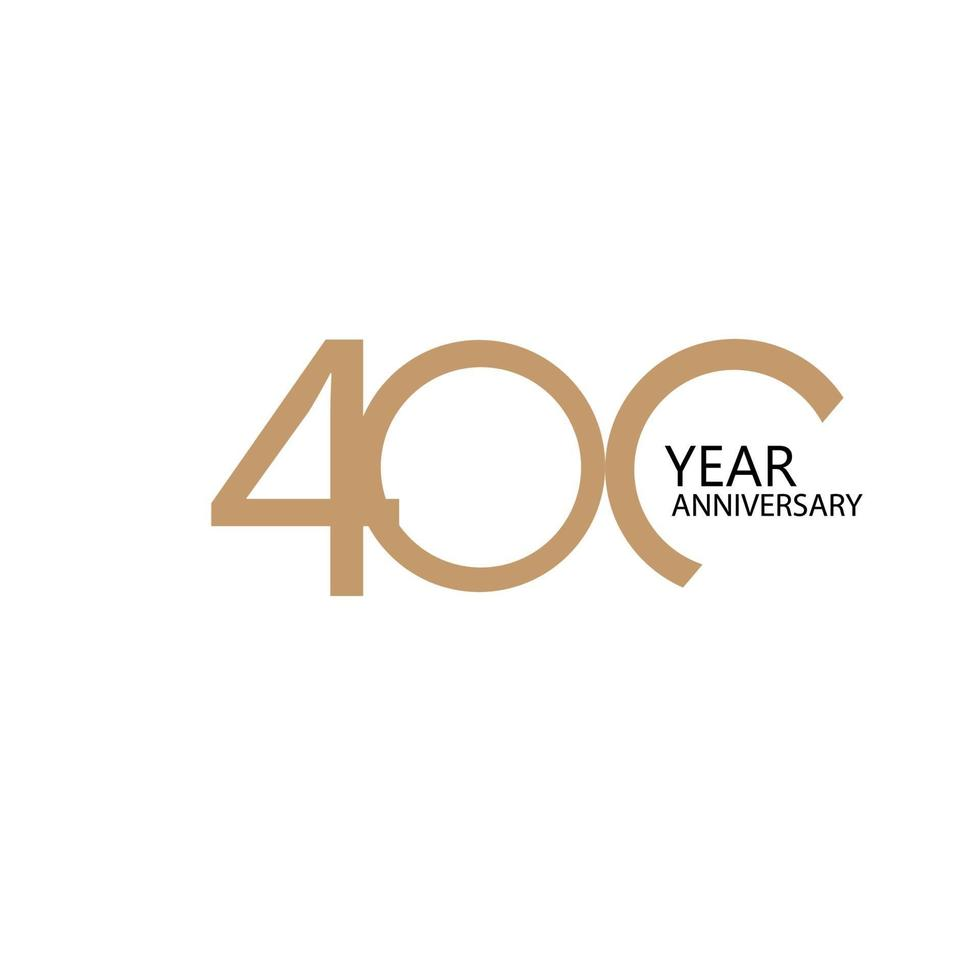 Illustration de conception de modèle de vecteur de célébration anniversaire 400 ans