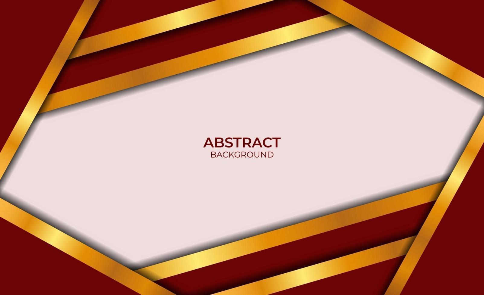conception abstraite de luxe rouge et or vecteur