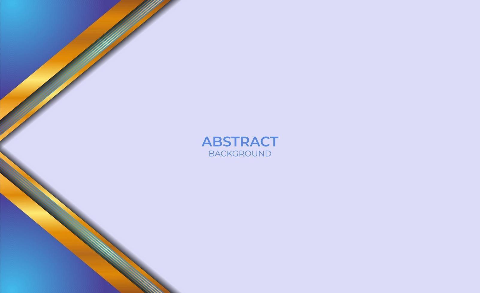 conception de style abstrait bleu et or vecteur