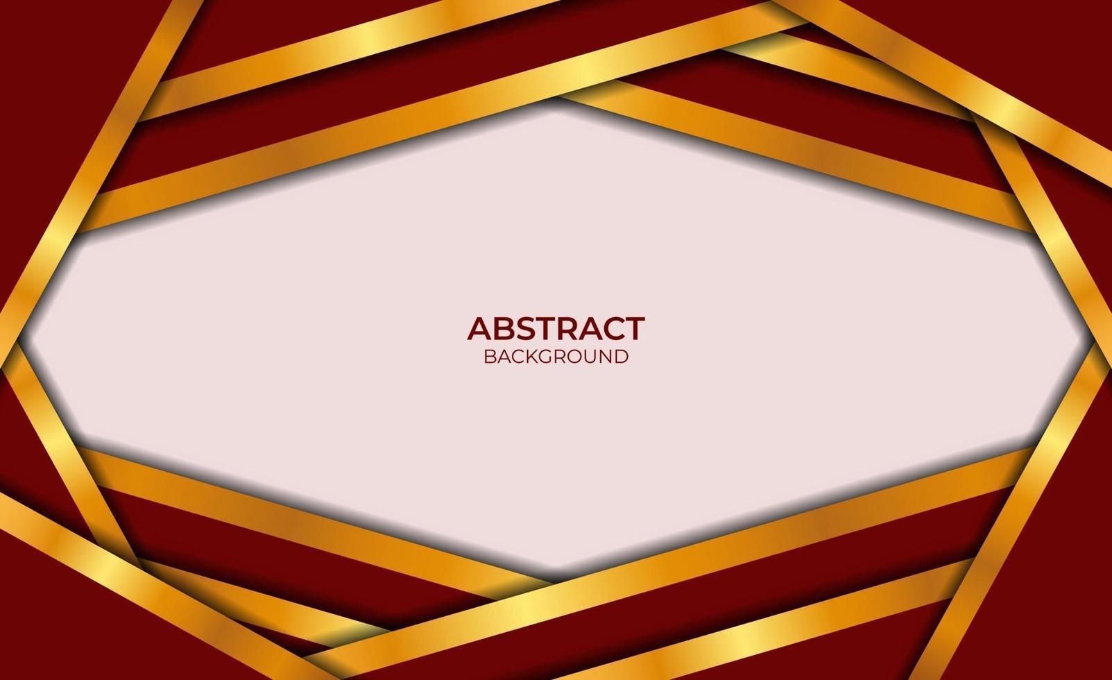 style abstrait de luxe rouge et or vecteur